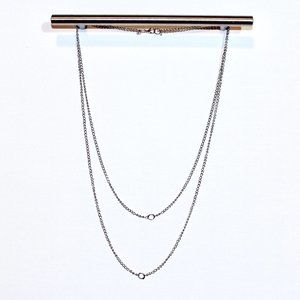 Minimalist Grey Simply Chic Layered Necklace
